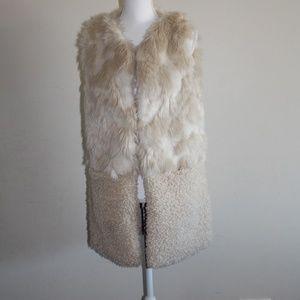 Nordstrom Faux Fur Vest Womens One Size